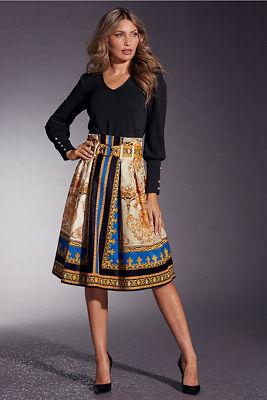 Status Print Midi Skirt