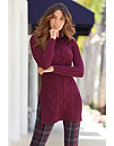 Turtleneck Cable Tunic Sweater Photo