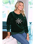 Velour Snowflake Sweatshirt Photo
