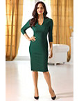 Three-quarter Sleeve Classic Sheath Dress Photo
