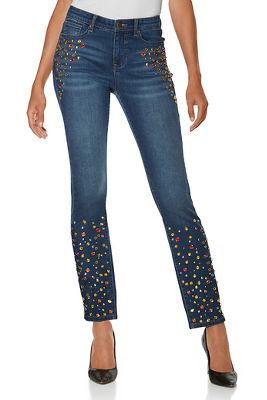 jewel embellished jean