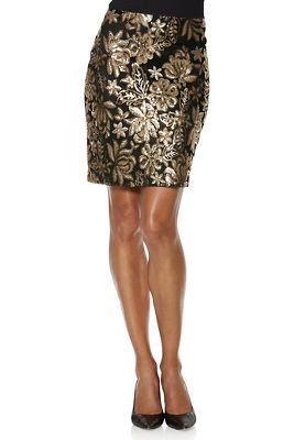 sequin above-the-knee skirt