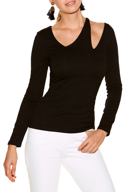 So Sexy™ asymmetric cutout long sleeve top image