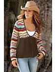 Crochet Tie Cardigan Sweater Photo