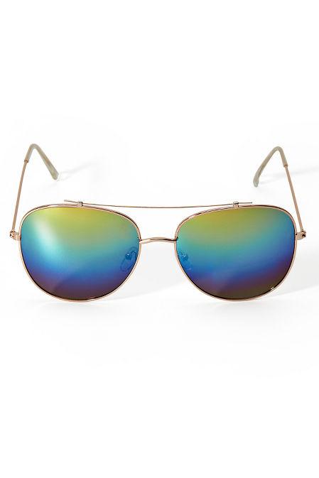 Mirrored Aviator Sunglasses image