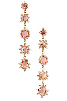 pink sparkle dangle earrings