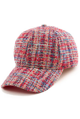 multicolor tweed baseball hat