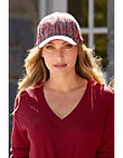Multicolor Tweed Baseball Hat Photo