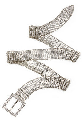 chain rhinestone belt