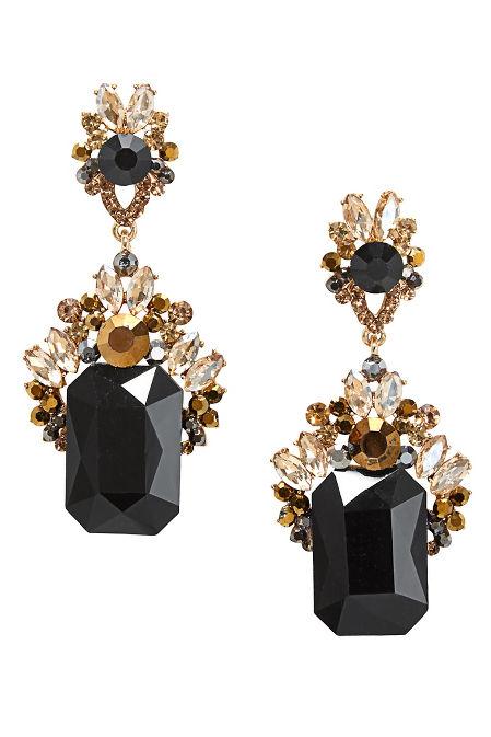 Black Gold Jeweled Earrings image