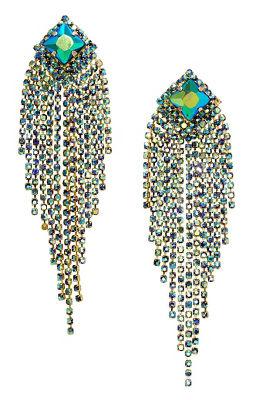 Iridescent Fringe Earrings