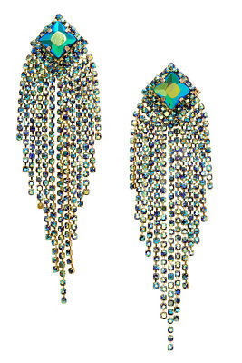 iridescent fringe earrings