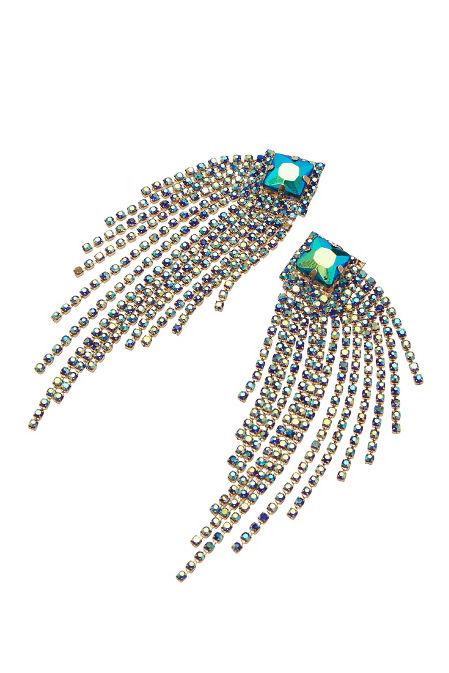 Iridescent Fringe Earrings image