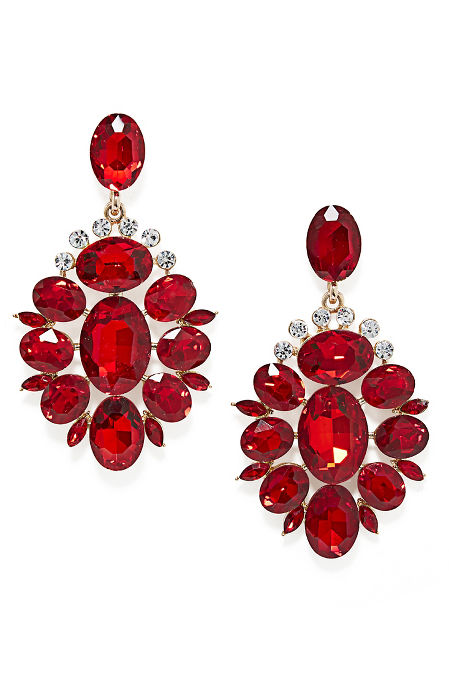 Red Holiday Drop Earrings image