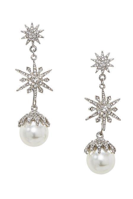 Snowflake Pearl Earrings image