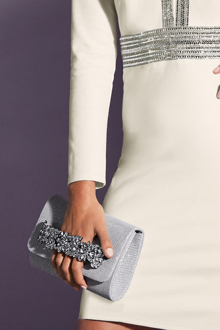 Jeweled Holiday Clutch image